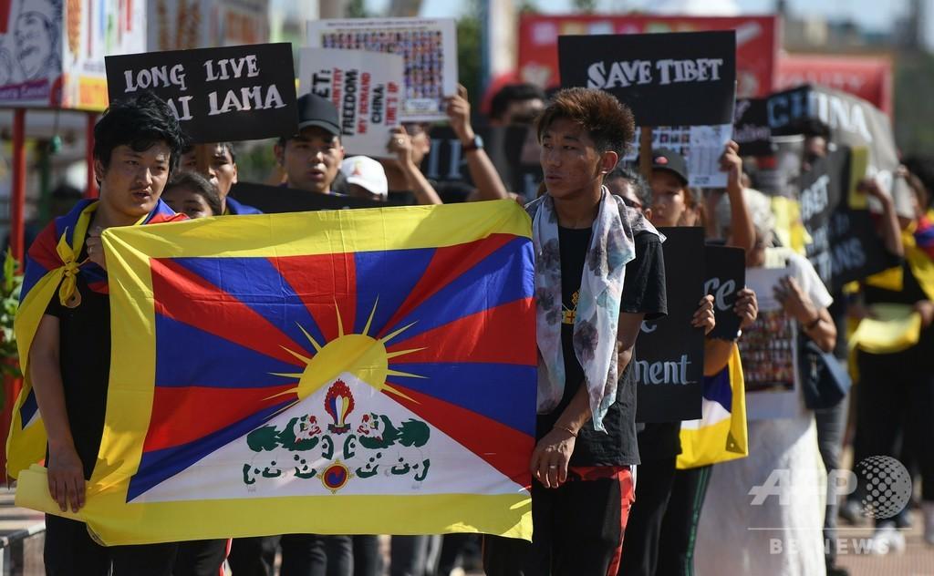 「チベット動乱」60年、亡命政府のあるインドで式典や抗議デモ