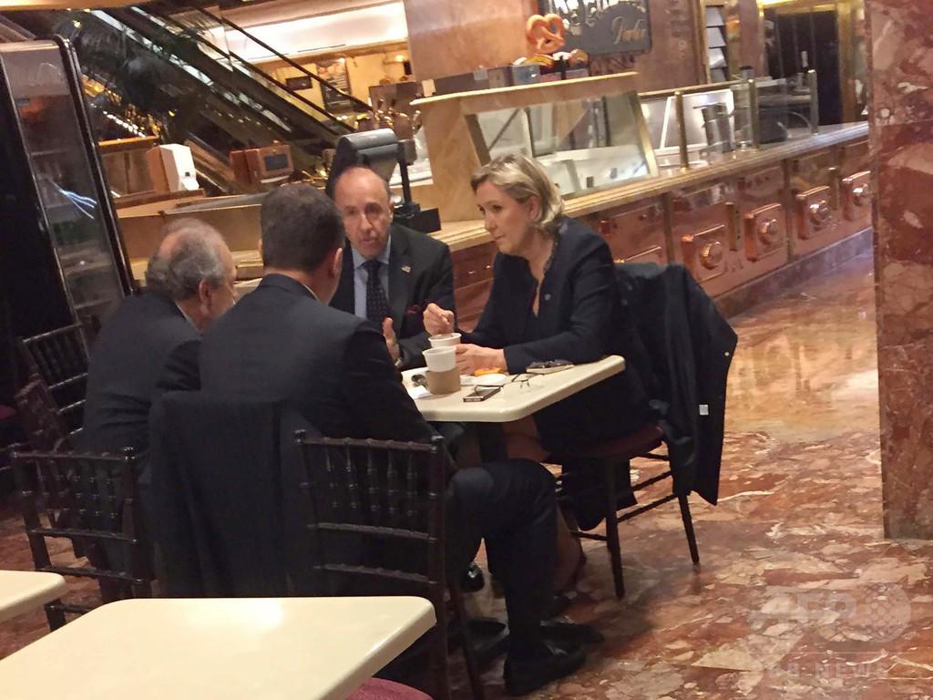 仏極右ルペン氏がトランプタワー訪問、トランプ氏と面会はなしか