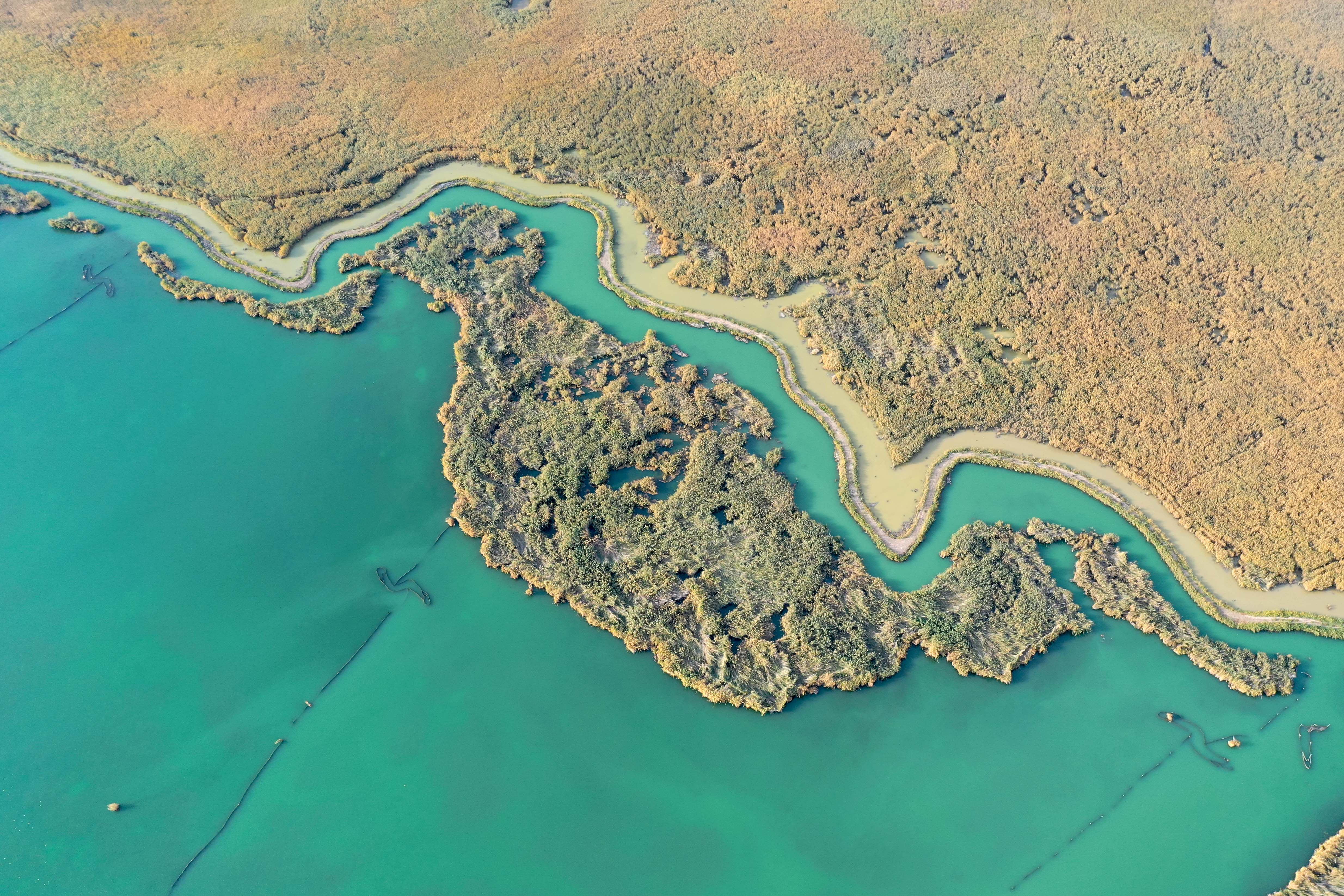 秋深まるボステン湖の絶景を堪能 新疆ウイグル自治区