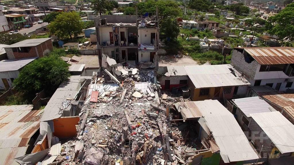 エクアドル地震、死者413人に 復興費用は「数十億ドル」
