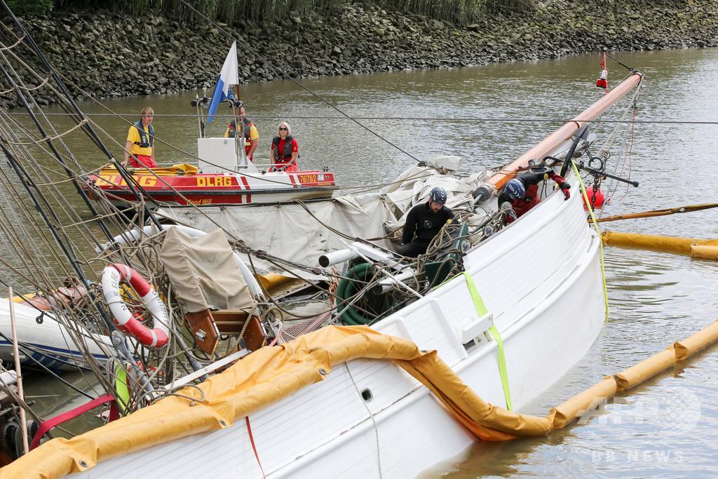 約2億円かけて修復されたばかりのビンテージ船、衝突で沈没 ドイツ