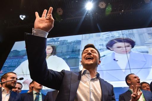 ウクライナ大統領選 コメディアン候補が当選確実