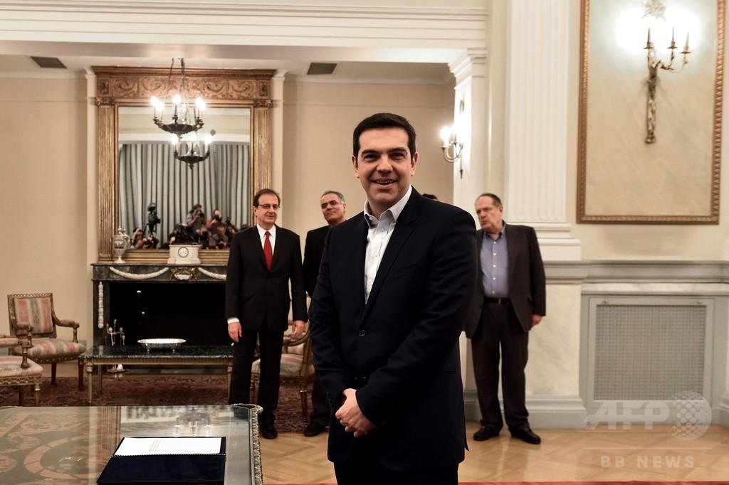 急進左派ツィプラス党首が首相に、欧州初の反緊縮政権 ギリシャ