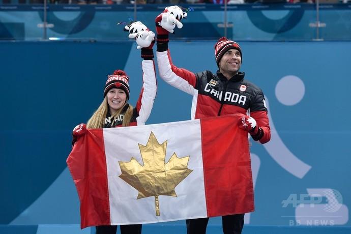 カナダがカーリング混合ダブルス初代王者に、平昌冬季五輪