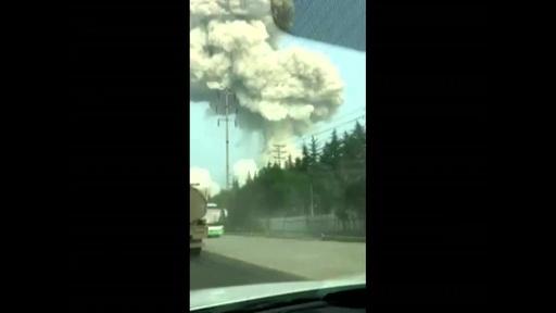 動画:中国のガス工場で大爆発 10人死亡 3キロ圏の窓割れる