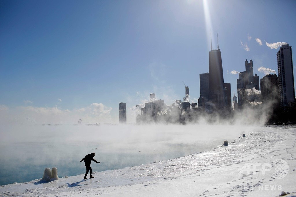 気温は南極以下… 米中西部、大寒波で数千万人に影響