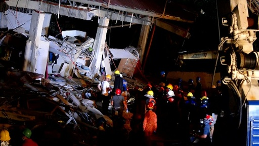 動画:フィリピンでM6.3の強い地震、5人死亡 スーパーの倒壊現場映像