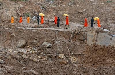 豪雨災害のスリランカに各国から救援物資 死者は202人に