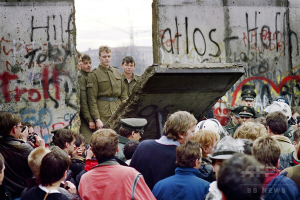 【AFP記者コラム】ベルリンの壁崩壊、その時記者たちは