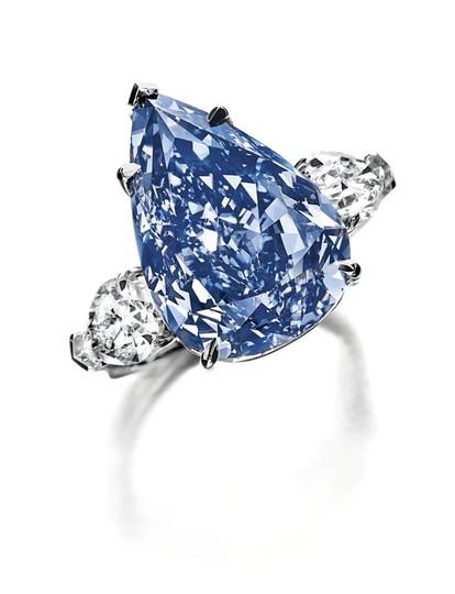 世界最大のブルーダイヤ、来月競売へ スイス