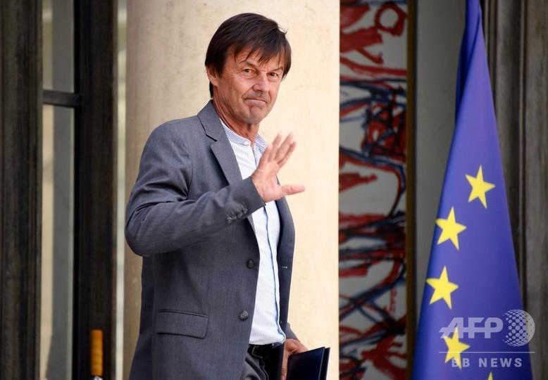 フランスのユロ環境相が突然の辞意表明、マクロン政権に打撃