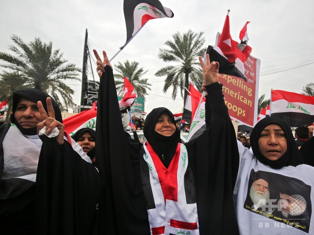 イラクで米軍撤退要求デモ、サドル師「トランプ氏は傲慢な態度やめよ」