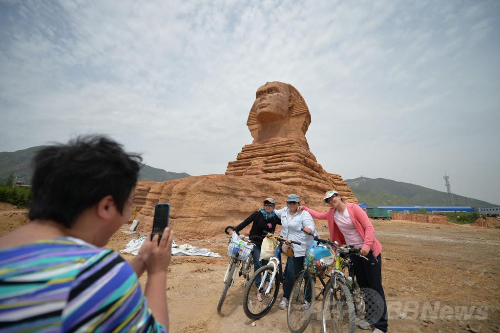 中国の偽スフィンクス撤去へ、エジプト政府が苦情