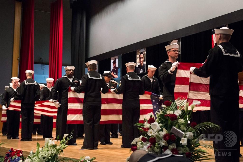 イージス艦衝突事故で犠牲の乗組員7人、横須賀基地で追悼式