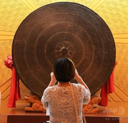 考古学史上「最大」300キロの銅鼓