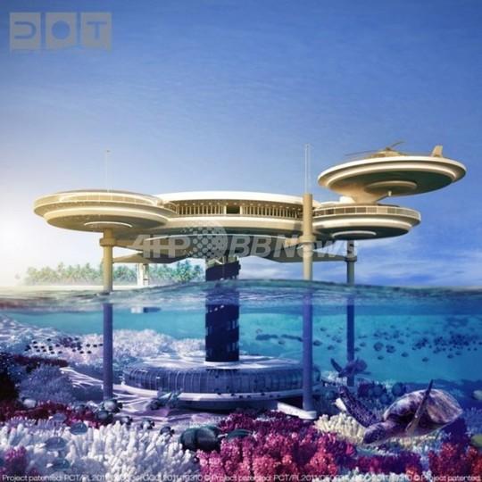 スタートレック風「海中ホテル」、インド洋の楽園モルディブに建設へ