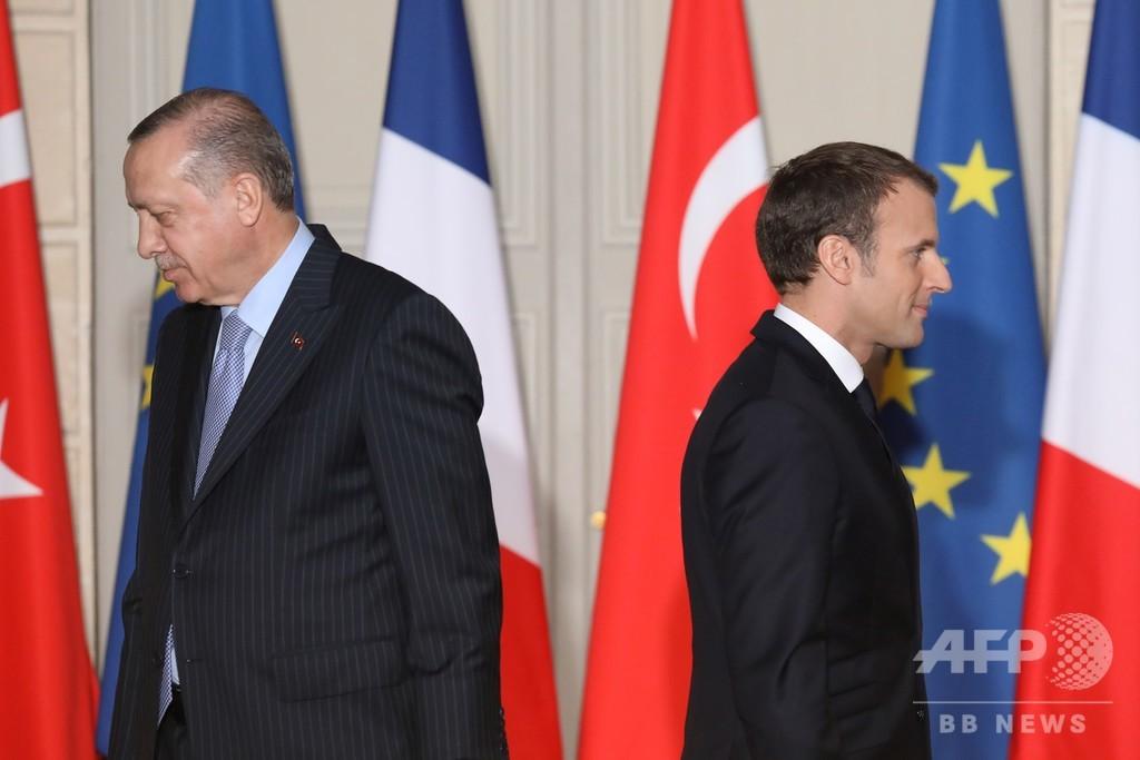 トルコ大統領、フランス製品不買を国民に呼び掛け