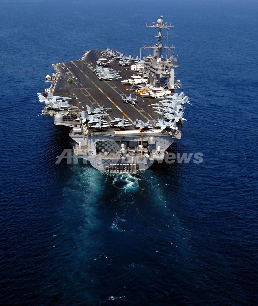 イラン海軍の演習海域に米空母、イラン側発表