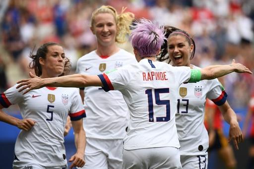 米国が開催国フランスとの準々決勝へ、スペインに競り勝つ 女子W杯