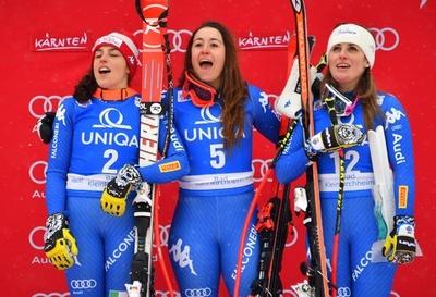 女子滑降はイタリア勢が表彰台独占、アルペンW杯