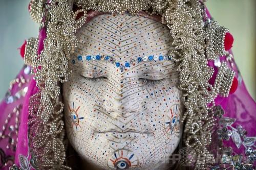 コソボの伝統的な花嫁メイク、民族学博物館