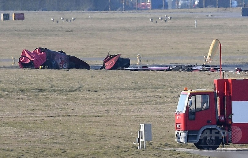英アクロバット飛行チームの空軍機が墜落 ウェールズ