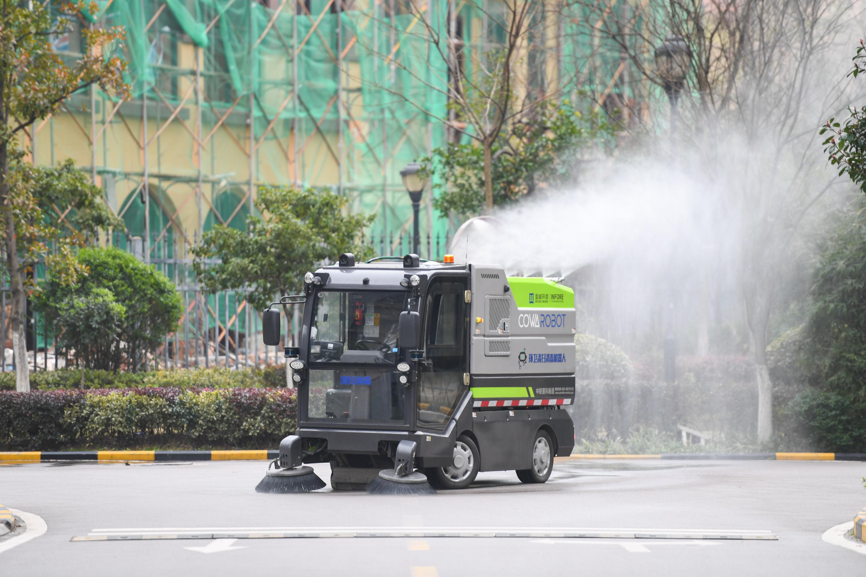 ロボットが清掃・消毒 ウイルス対策に一役 中国・湖南省