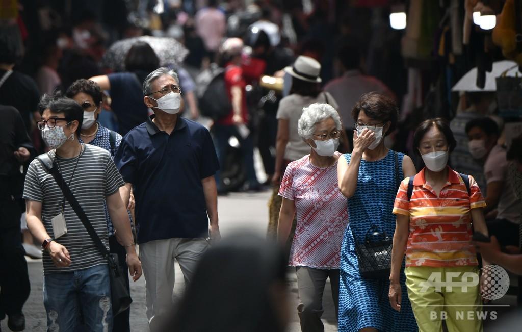 韓国、新たに新型コロナ46人感染 第2波直面