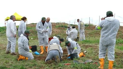 動画:イラク、IS犠牲者遺体遺棄場の発掘開始 ヤジディー拠点