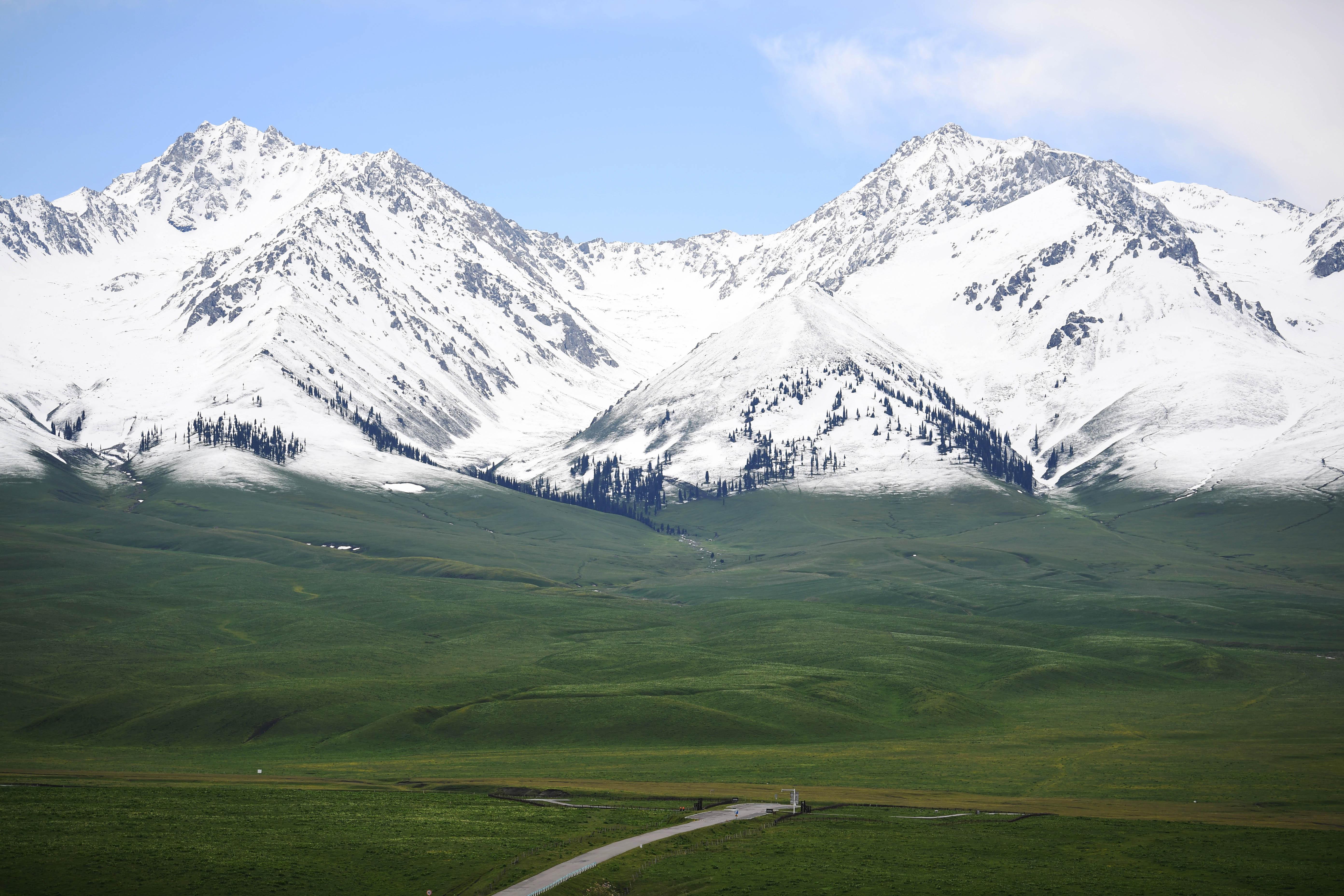 「空中草原」ナラティ、観光客に人気 新疆ウイグル自治区