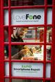 ロンドンの赤い電話ボックス、改装されさまざまな用途に