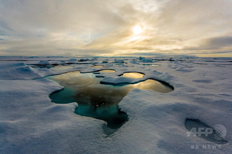 北極海氷にマイクロプラスチック蓄積 「重大な汚染源」に、独研究