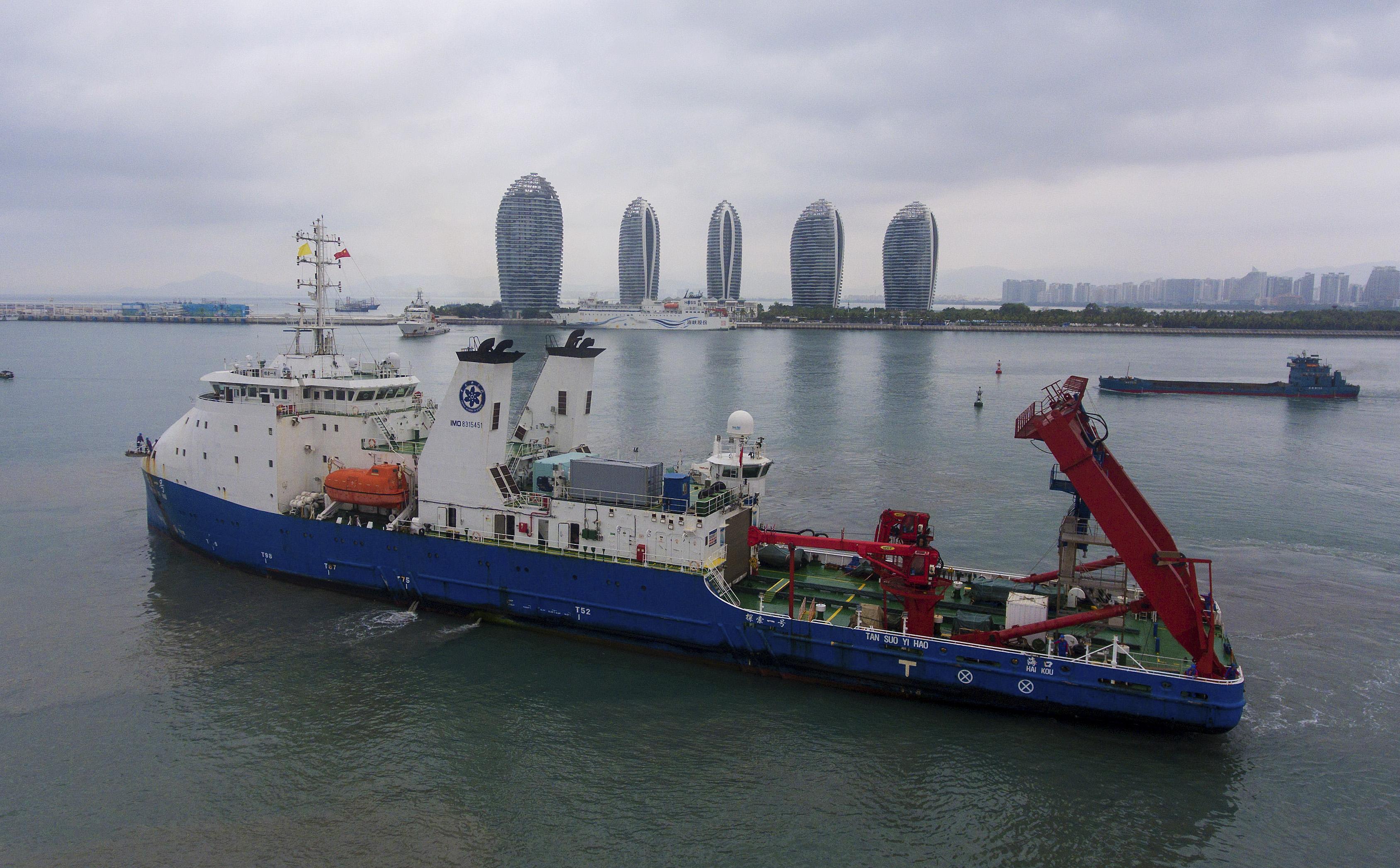 中国科学調査船、南西インド洋などでの深海科学調査終え帰港