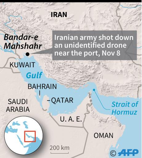 イラン、ペルシャ湾付近で国籍不明の無人機を撃墜 現地報道