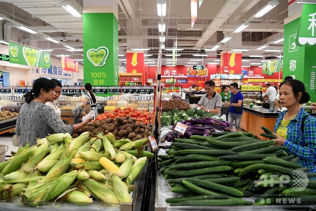 中国の7月の消費者物価指数2.1%上昇 鶏卵価格は二けた上昇