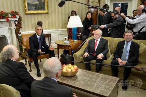 オバマ氏、米ノーベル賞受賞者を称賛 ディラン氏は会合欠席