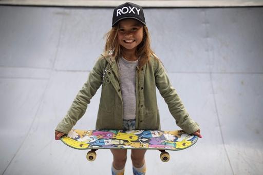 日本最年少プロスケートボーダー、9歳少女が目指す東京五輪