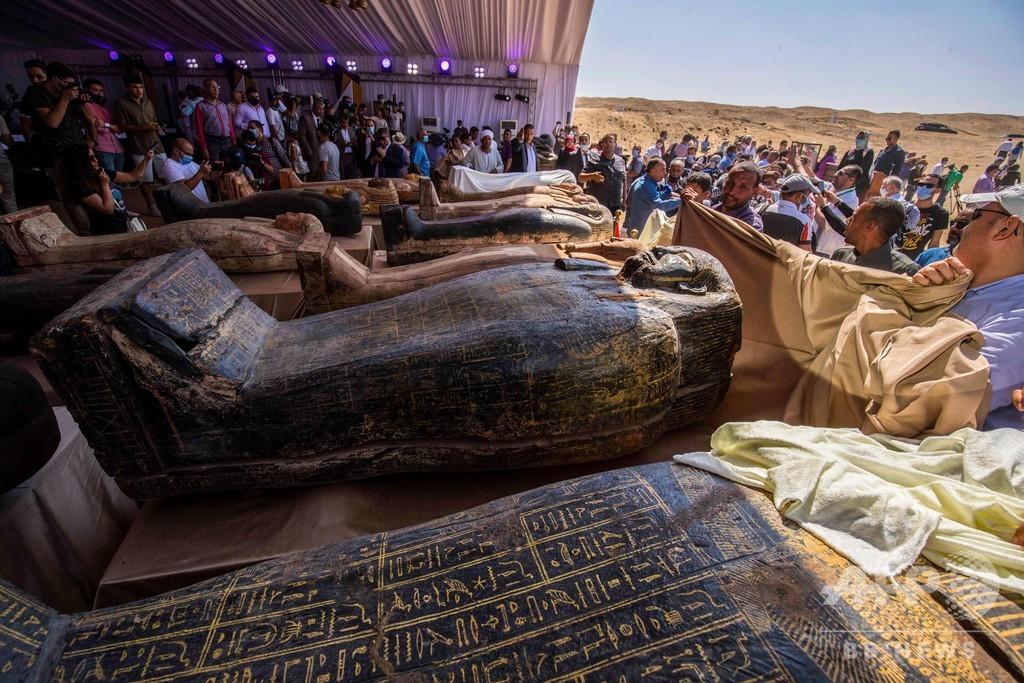 2500年以上前の木棺59基発見、エジプトのサッカラ遺跡
