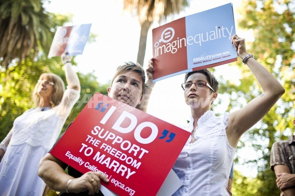 専門家「生殖能力は結婚の条件ではない」、米同性婚裁判