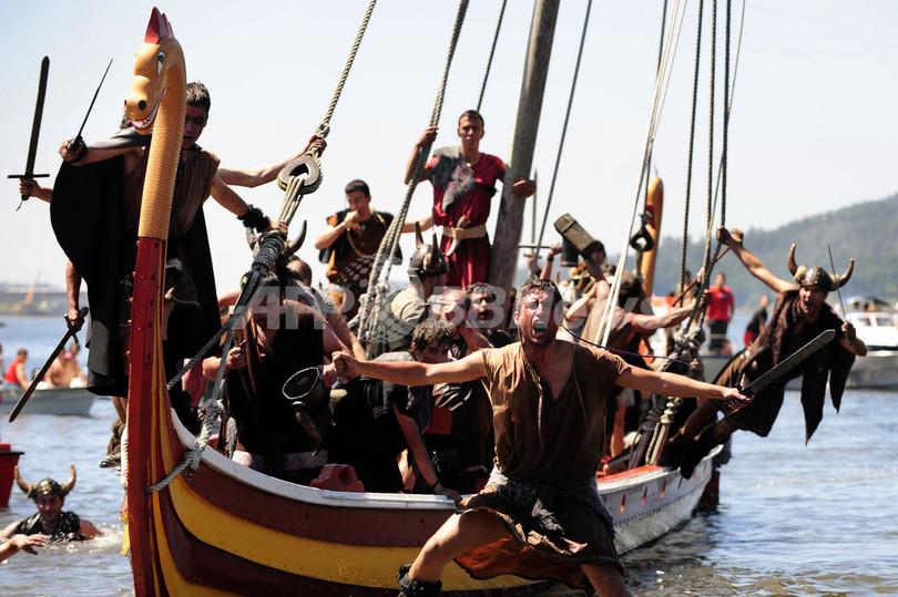 スペイン・ガリシア地方伝統、「バイキングの巡礼祭」