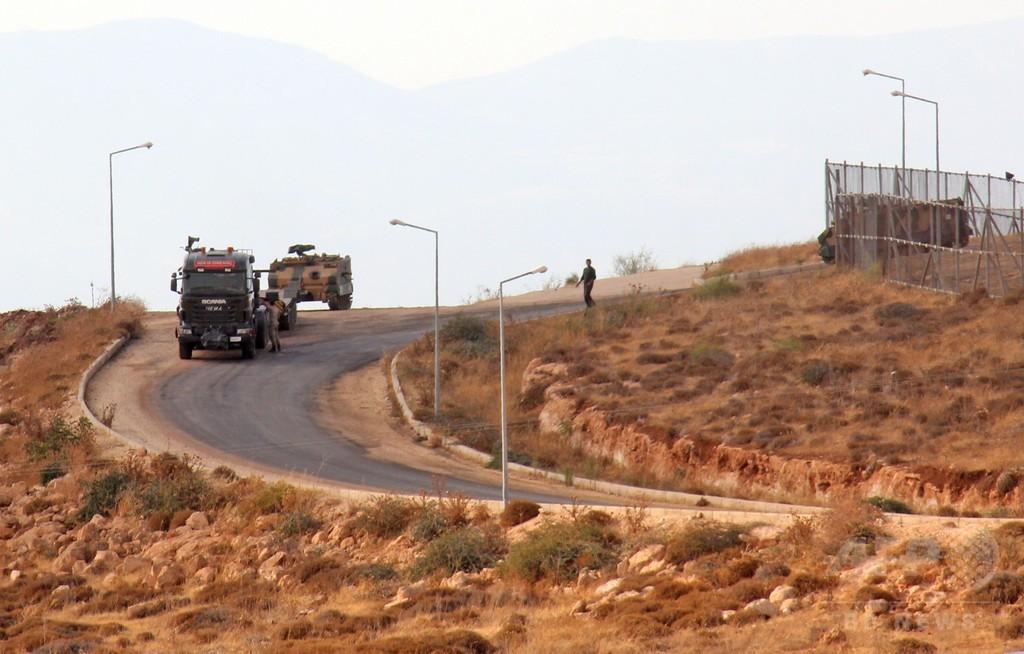 トルコ軍がシリア北部に越境、イスラム過激派の掌握地域