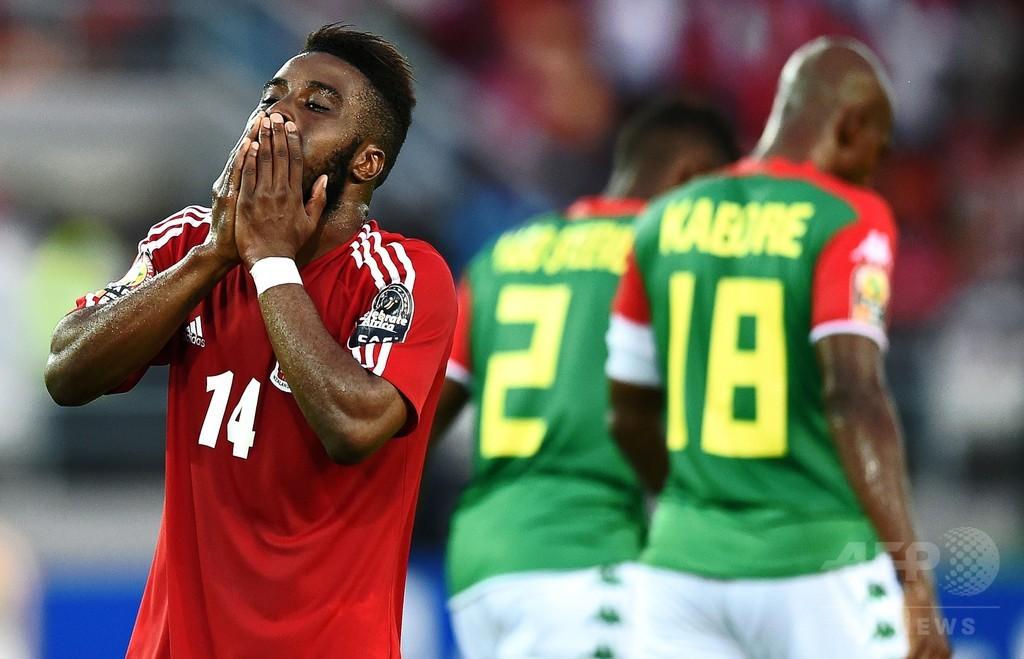 開催国の赤道ギニア、2試合連続で引き分ける アフリカネイションズカップ