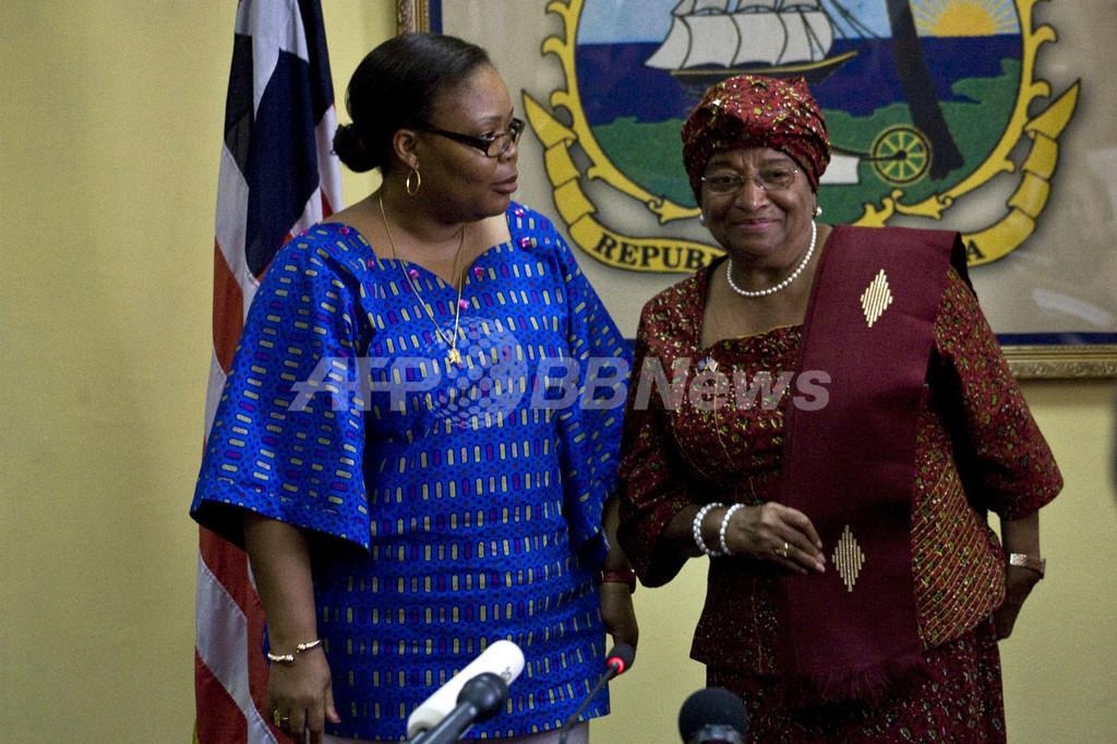 リベリア大統領選決選投票、現職のサーリーフ氏が大差で勝利