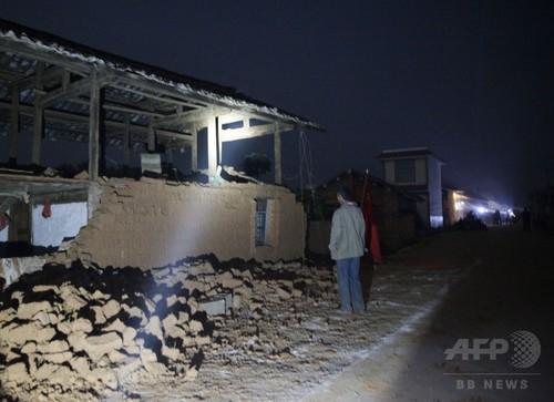 中国雲南省でM6.0の地震、死者1人 負傷者324人