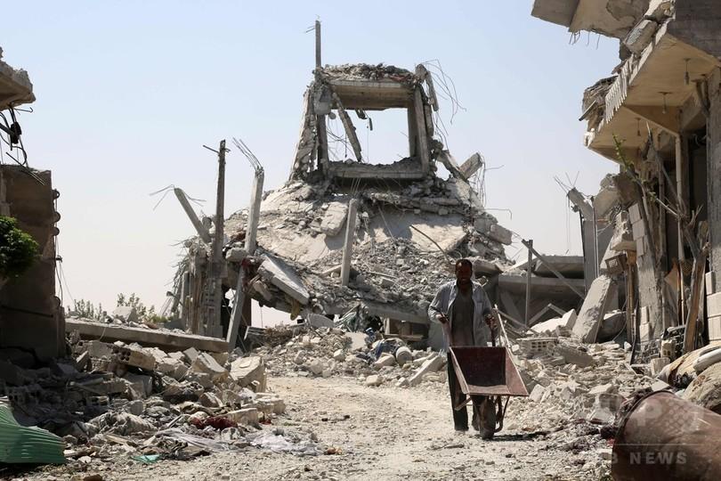 シリア・マンビジから敗走のIS、置き土産に「わな」