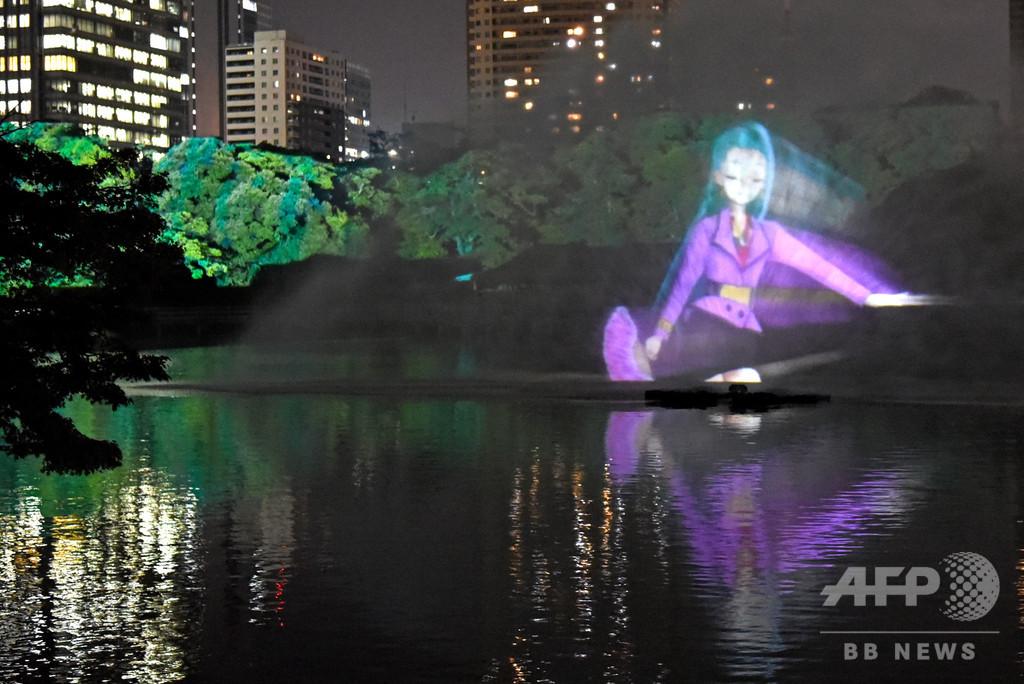 舞台は江戸の面影残す浜離宮と高層ビル 「初音ミク」が歌う東京の150年