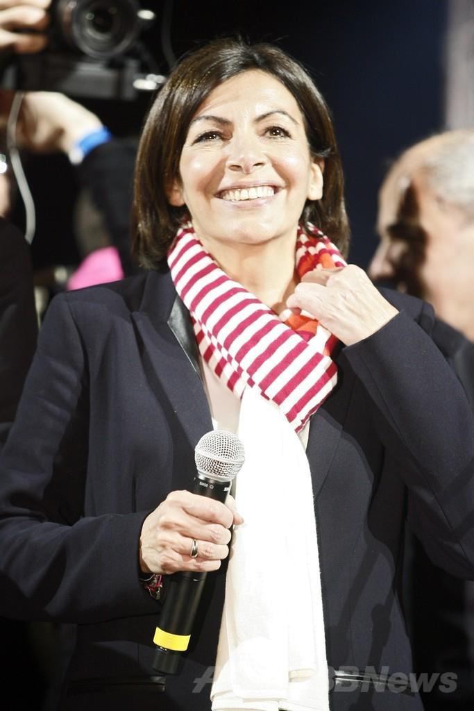 パリ初の女性市長にイダルゴ氏 仏地方選、左派与党は大敗