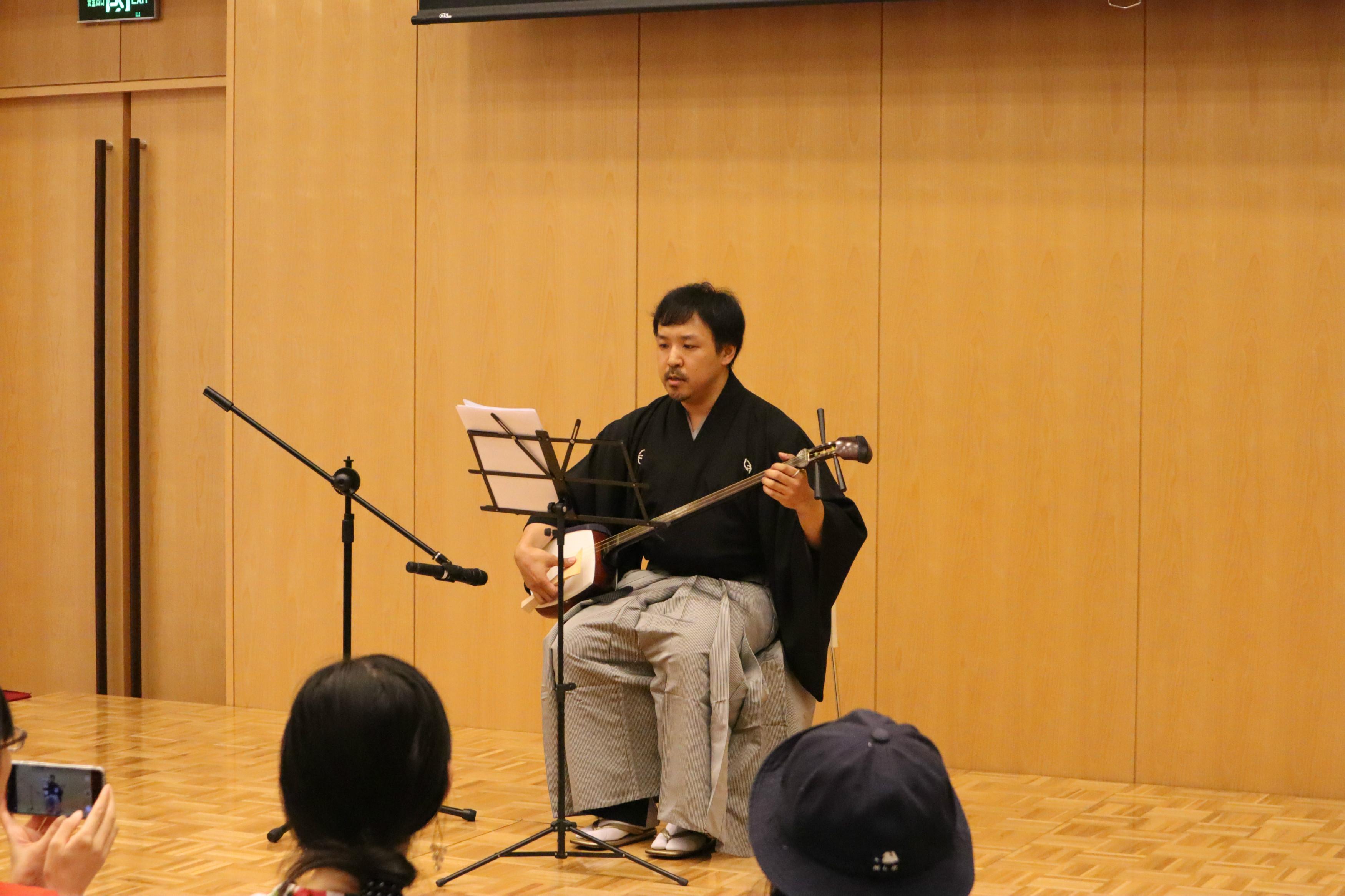 在中国日本大使館、「歌舞伎音楽の魅力」講演会を開催