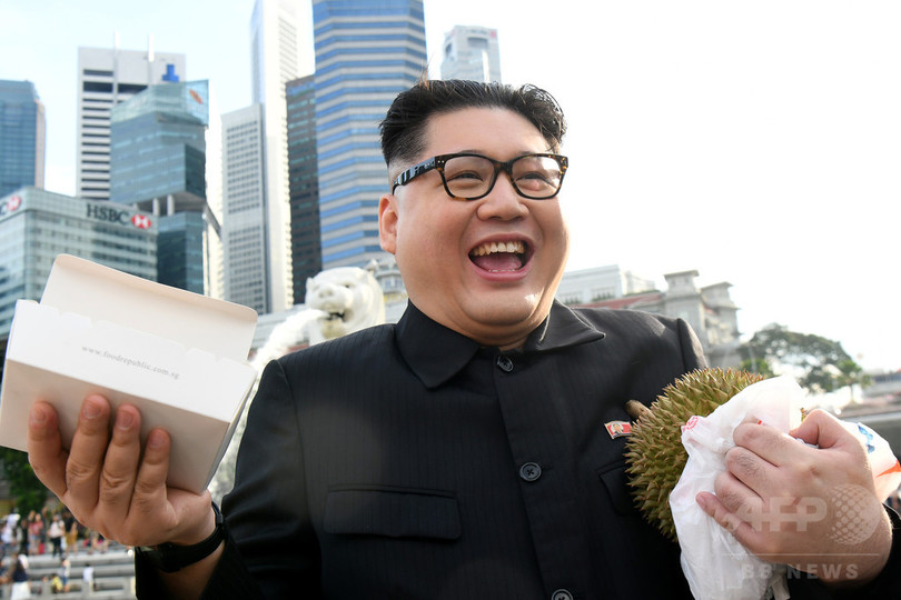 金正恩氏のそっくりさん、米朝会談予定地のシンガポールに出没