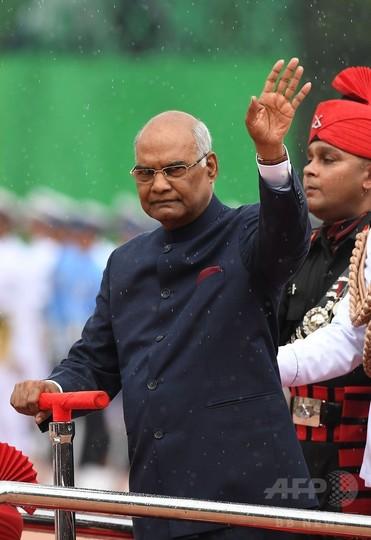 最下層カースト出身のコビンド氏、インドの新大統領に就任
